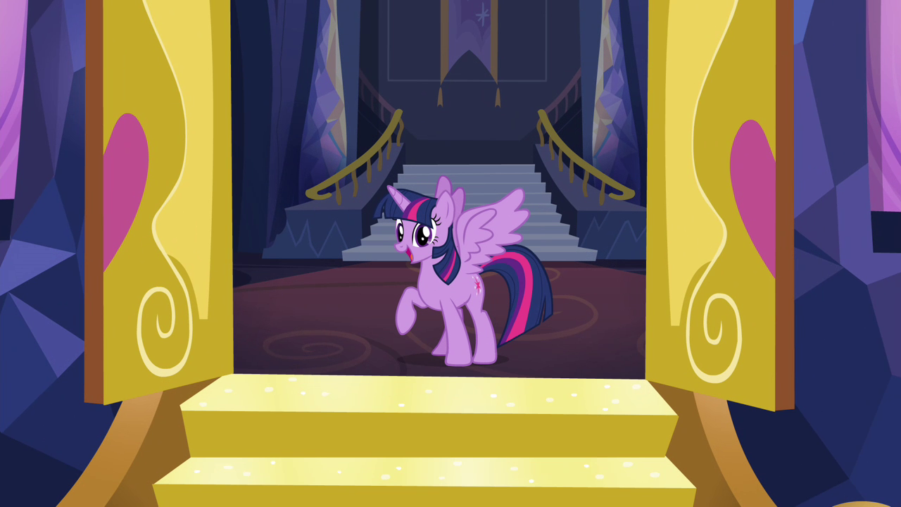 Image twilight sparkle at the castle front doors s4e26 for My little magic door