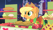 Applejack charges Rarity and Blueblood for fritters S1E26