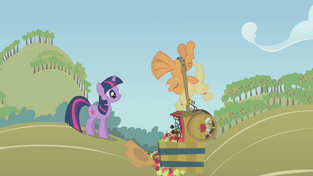 File:Applejack flailing her front legs S1E04.png