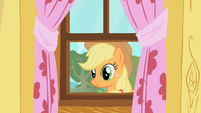 Applejack staring through window S01E18