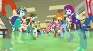 Canterlot High cafeteria clouded in green mist (new version) EG2
