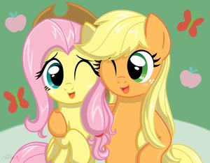 File:FANMADE Applejack And Fluttershy by Daniel-SG.jpg