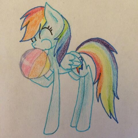 File:FANMADE Rainbow Dash blowing up beach ball.jpg