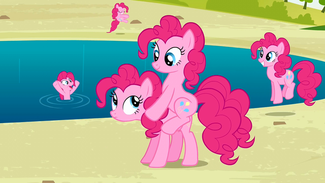 File:Pinkie Pies by the lake S3E03.png
