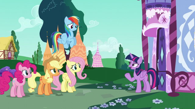 "File:Twilight Sparkle ""I think you're all overreacting"" S6E9.png"