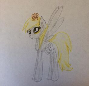 FANMADE Derpy Hooves with muffin