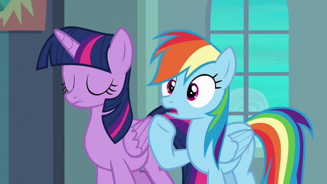 "File:Rainbow Dash ""it's gonna be pretty obvious"" S6E24.png"