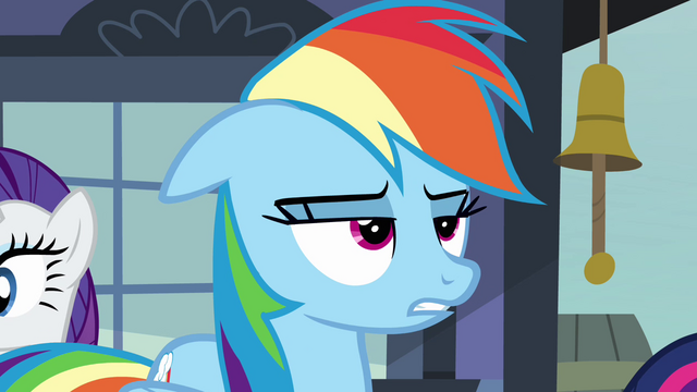 "File:Rainbow Dash annoyed ""almost"" S03E12.png"
