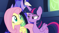 Twilight looking unimpressed at Fluttershy S6E11