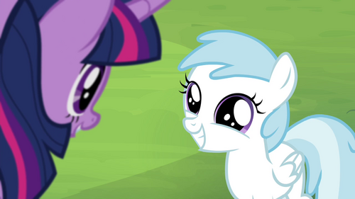 Cotton Cloudy grinning at Twilight S4E22