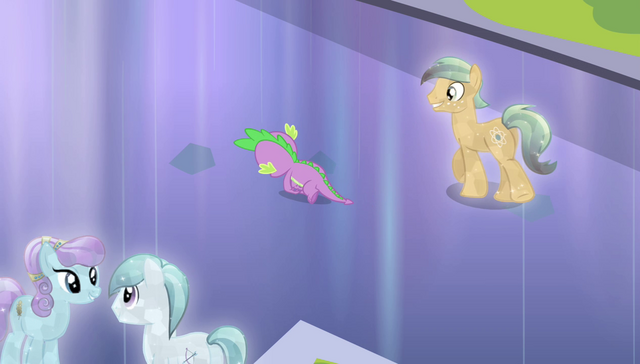File:Crystal Pony walking up to Spike S4E24.png
