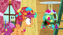 Scootaloo can't find Tank's head S03E11