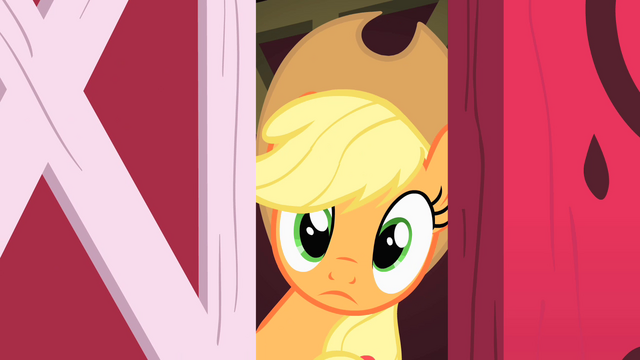File:Applejack looks outside S1E25.png