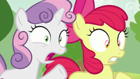 Sweetie Belle and Apple Bloom in shock S7E7