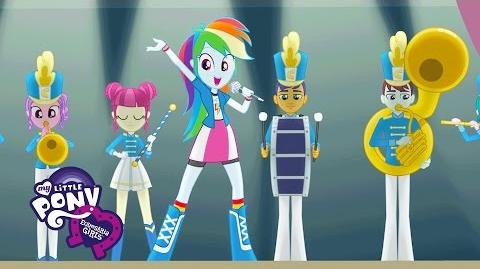 "MLP Equestria Girls - Friendship Games ""The CHS Rally Song"" Music Video"