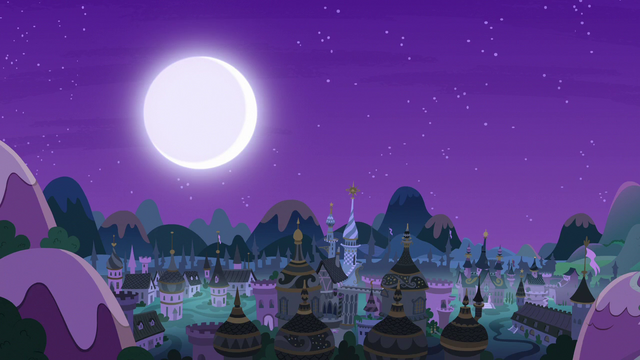 File:Moon shines over Canterlot as lights go out S7E10.png