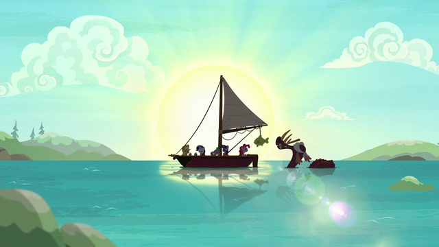 File:Ponies and bunyip having fun on the ocean S6E22.png