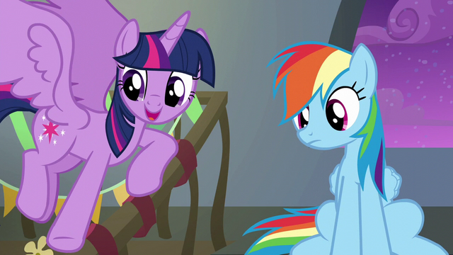 File:Twilight pointing to her friends S6E7.png