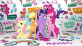 Mane Six group pose in Fresh Princess music video.png