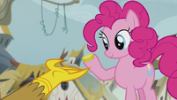 Pinkie with a bit S5E8