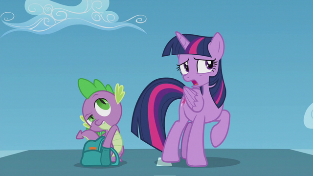 """File:Twilight """"did Rainbow Dash look really young"""" S5E25.png"""