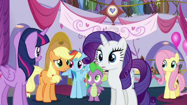"""File:AJ """"That Sassy totally stepped on your hooves, Rarity"""" S5E14.png"""
