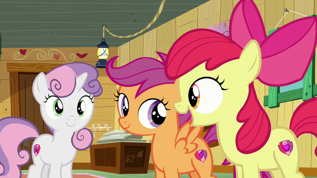 "File:Apple Bloom ""We do exactly what we got our cutie marks in!"" S6E4.png"
