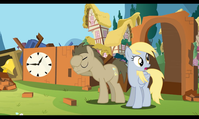 File:FANMADE Rainboom Dr. Hooves Derpy.png