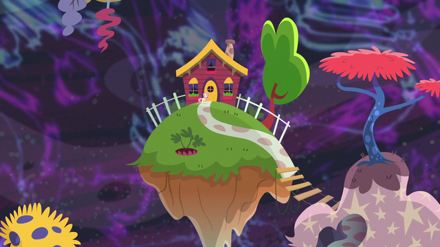 File:Fluttershy appears outside Discord's house S7E12.png
