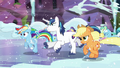 Rainbow running with the other ponies S6E2.png