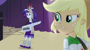 Applejack looking confused at Rarity's moving EG2