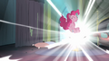 Pinkie Pie enters the comic book S4E06.png