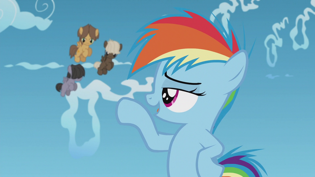 """File:Rainbow """"those guys won't give you any more guff"""" S5E8.png"""