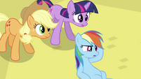Rainbow Dash at the ground S2E26