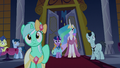 Twilight and Celestia looking toward the stage S5E7.png