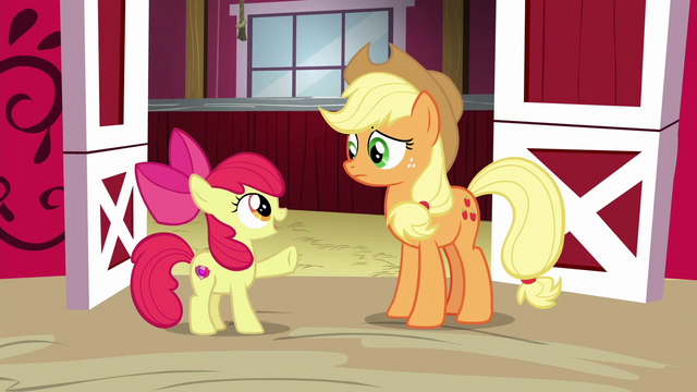 File:Apple Bloom interrupts Applejack S6E14.png