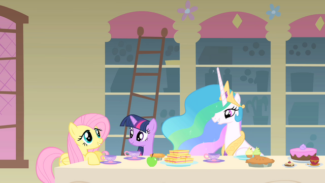 File:Fluttershy talking with Celestia S1E22.png