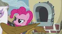 Gilda walking past Pinkie Pie S5E8