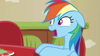 Rainbow Dash completely disgusted S6E11