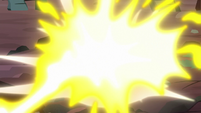 Rocks getting blasted with fire S7E1