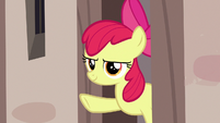 Apple Bloom giving Scootaloo the signal S7E8