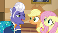 Applejack and Fluttershy meet Gladmane S6E20.png