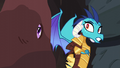 Ember and Twilight looking at Spike S6E5.png