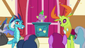 Ponies cheering for Princess Ember and Thorax S7E15.png