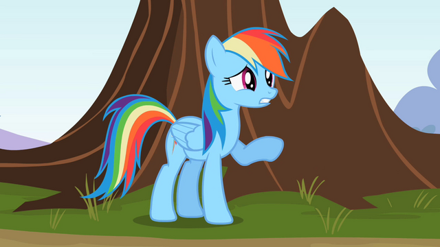 "File:Rainbow Dash ""Doing here"" S2E07.png"