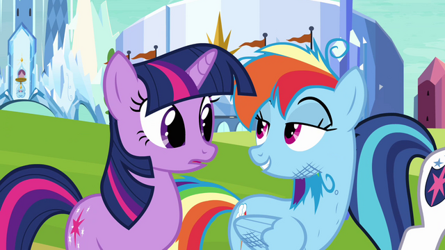 "File:Twilight and Rainbow Dash ""ain't no thing"" S03E12.png"