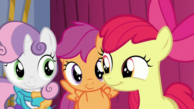 File:Cutie Mark Crusaders smirk at each other S6E4.png