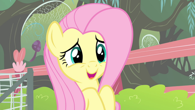 File:Fluttershy 'but I'll be watching safely' S4E14.png