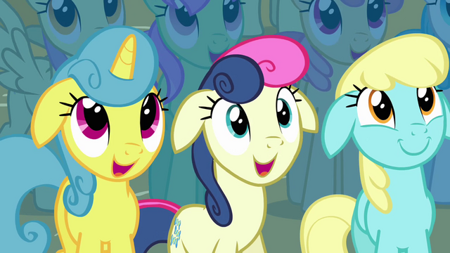 File:Lemon Hearts, Sweetie Drops, and Sassaflash smiling S03E13.png