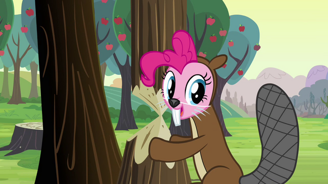 File:Pinkie Pie beaver costume S2E18.png